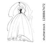 vector fashion illustration.... | Shutterstock .eps vector #1288867672