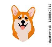cute corgi dog cartoon style.... | Shutterstock .eps vector #1288867912