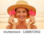beauty surprised fashion model... | Shutterstock . vector #1288872502