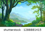 tropical forest  big tree ... | Shutterstock .eps vector #1288881415