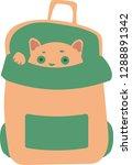 cute flat cat hide in small... | Shutterstock .eps vector #1288891342