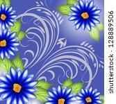 wedding card or invitation...   Shutterstock .eps vector #128889506