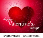 valentine's day greeting card | Shutterstock .eps vector #1288896088