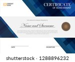 certificate with mosaic design... | Shutterstock .eps vector #1288896232