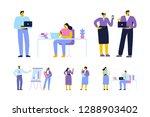 business meeting. teamwork.... | Shutterstock .eps vector #1288903402