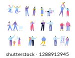 people of different ages and... | Shutterstock .eps vector #1288912945