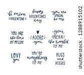 valentines day lettering...   Shutterstock .eps vector #1288915102