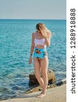 a girl  a model posing in a...   Shutterstock . vector #1288918888