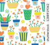 seamless pattern for valentine... | Shutterstock .eps vector #1288919362