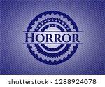 horror jean or denim emblem or... | Shutterstock .eps vector #1288924078