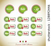 discount label collection | Shutterstock .eps vector #128892446