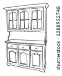 Buffet Furniture Contour Vecto...