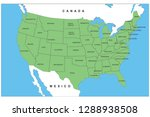 usa map with detailed state... | Shutterstock .eps vector #1288938508