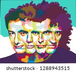 queen are a british rock band... | Shutterstock . vector #1288943515