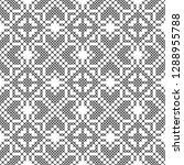cross stitch  seamless...   Shutterstock .eps vector #1288955788