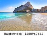 playa de fossa beach in calpe...   Shutterstock . vector #1288967662