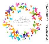 flying butterflies. vector...   Shutterstock .eps vector #1288973968