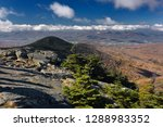 Small photo of Mendon Peak in Coolidge State Forest and Rutland Vermont from Killington Mountain Resort in Fall