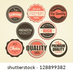 set of vector stickers | Shutterstock .eps vector #128899382