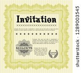 yellow vintage invitation... | Shutterstock .eps vector #1289003545