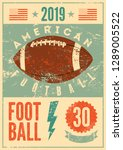 american football typographical ... | Shutterstock .eps vector #1289005522