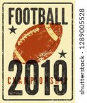 american football typographical ... | Shutterstock .eps vector #1289005528