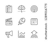 set line icons of start up... | Shutterstock . vector #1289016775
