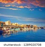 santa pola port and skyline in... | Shutterstock . vector #1289020708