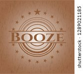 booze realistic wooden emblem   Shutterstock .eps vector #1289021185