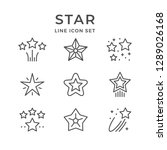 set line icons of star isolated ... | Shutterstock . vector #1289026168