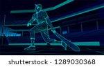 baseball player  batter  after...   Shutterstock .eps vector #1289030368