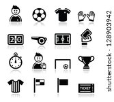 soccer   football vector icons... | Shutterstock .eps vector #128903942