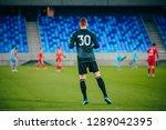 football  soccer goalie at the...   Shutterstock . vector #1289042395