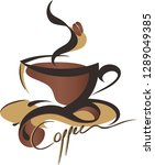coffee cup from top clip art...   Shutterstock .eps vector #1289049385