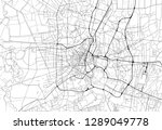 area map of bangkok  thailand.... | Shutterstock .eps vector #1289049778
