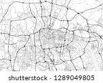 area map of guangzhou  china.... | Shutterstock .eps vector #1289049805