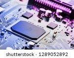 electronic circuit board close... | Shutterstock . vector #1289052892