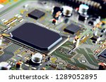 electronic circuit board close... | Shutterstock . vector #1289052895