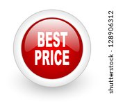 best price red circle glossy... | Shutterstock . vector #128906312