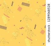vintage memphis texture.... | Shutterstock .eps vector #1289068528