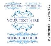 vector set  calligraphic design ... | Shutterstock .eps vector #128907572