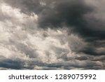 dark sky with dark clouds... | Shutterstock . vector #1289075992