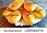 fresh bread from cereals with... | Shutterstock . vector #1289086978