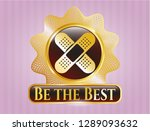 gold shiny badge with crossed... | Shutterstock .eps vector #1289093632