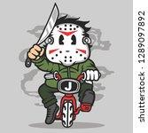 killer minibike cartoon... | Shutterstock .eps vector #1289097892