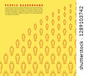 group of people. bright yellow... | Shutterstock .eps vector #1289103742