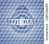 injured blue emblem with... | Shutterstock .eps vector #1289106085