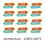 set of colorful sale icon... | Shutterstock .eps vector #1289114875