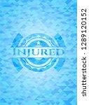 injured sky blue emblem with... | Shutterstock .eps vector #1289120152
