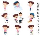 vector illustration of cartoon... | Shutterstock .eps vector #1289129188